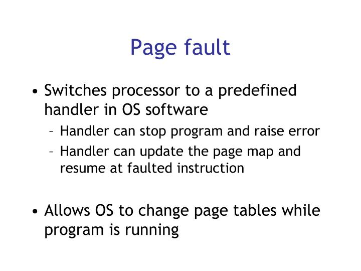 Page fault