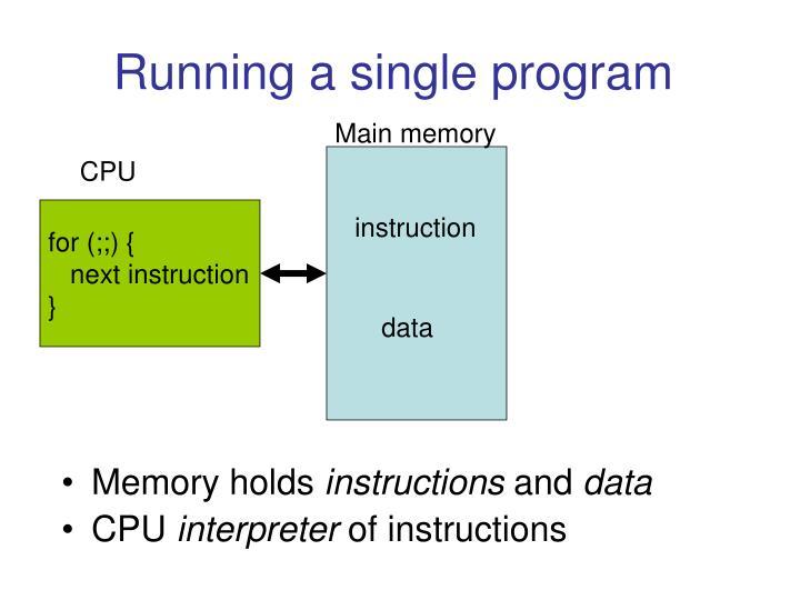 Running a single program