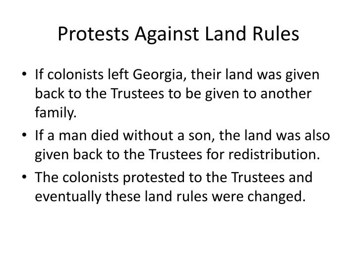 Protests Against Land Rules
