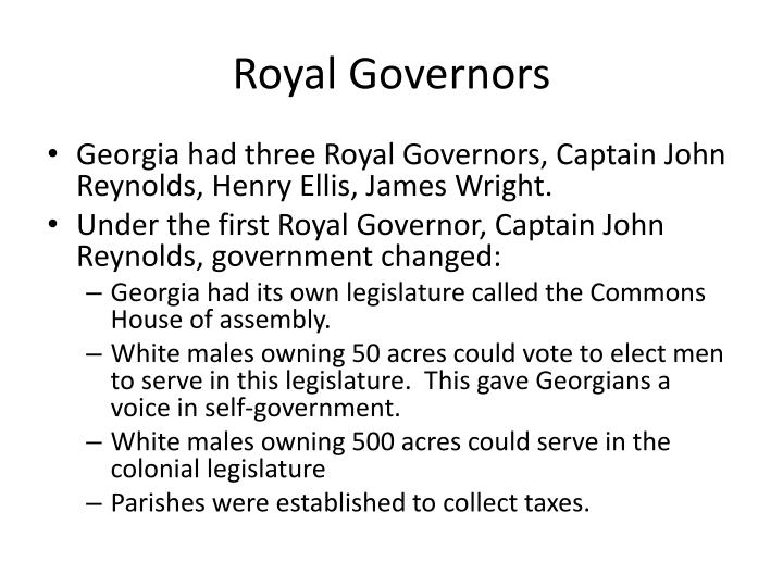 Royal Governors