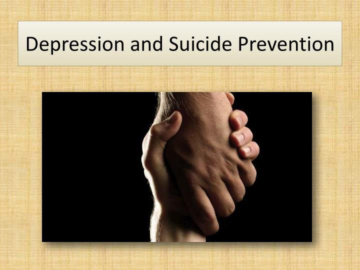 ppt - depression and suicide prevention powerpoint presentation, Presentation templates