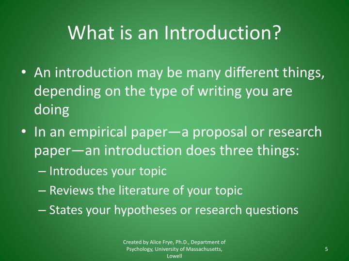 What is an Introduction?