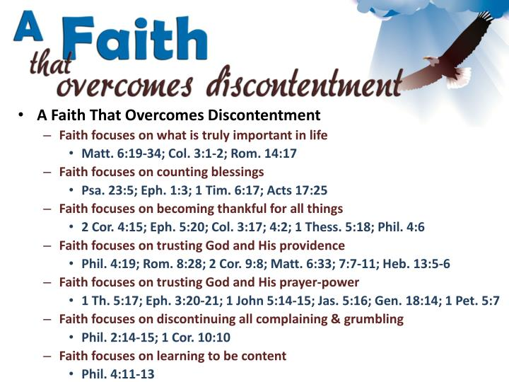 A Faith That Overcomes Discontentment