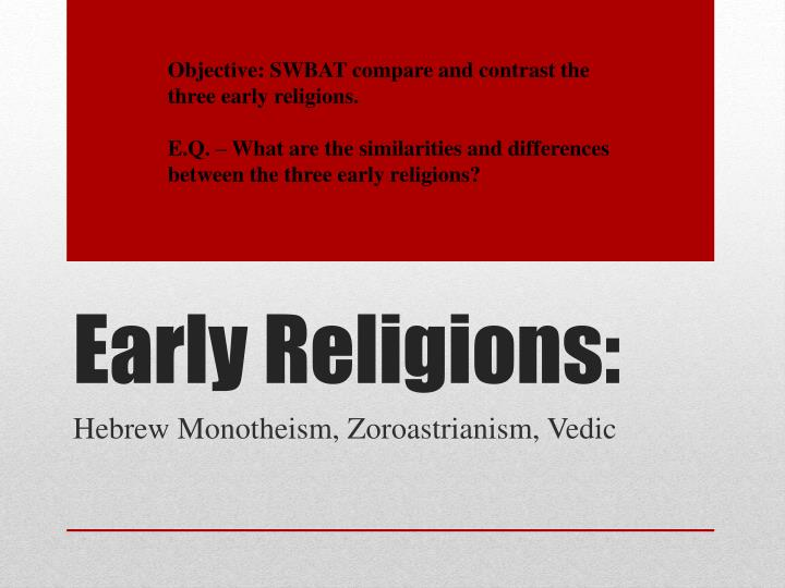 early religions n.