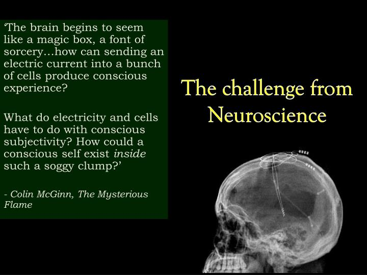 the challenge from neuroscience n.
