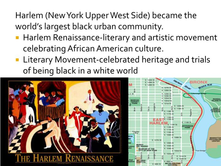 the harlem renaissance and a new cultural identity Originally called the new negro movement, the harlem renaissance was a literary and intellectual flowering that fostered a new black cultural identity in the 1920s and 1930s black-owned magazines and newspapers flourished, freeing african americans from the constricting influences of mainstream white society.
