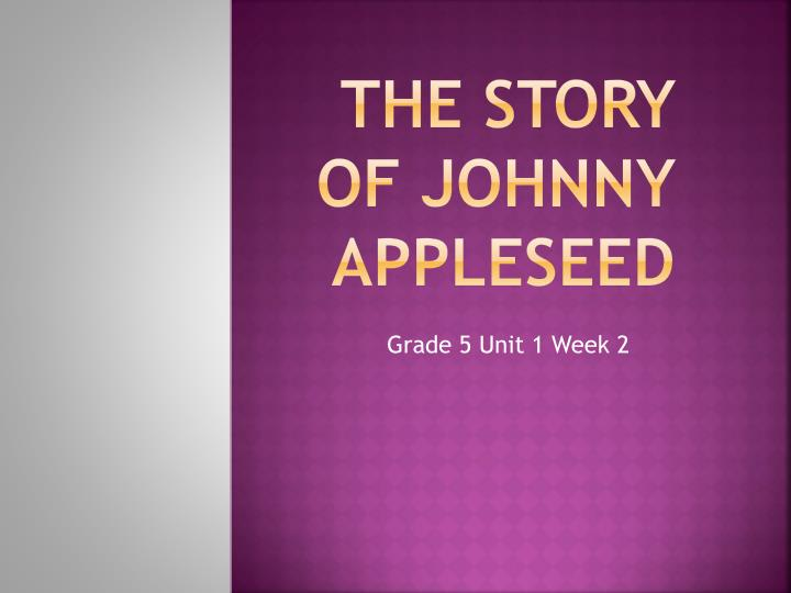 the story of johnny appleseed n.