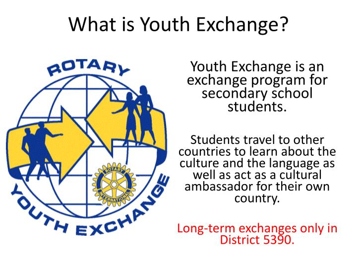 what is youth exchange n.