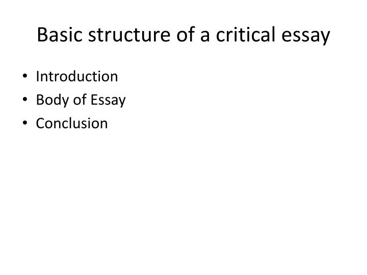Ppt  Shooting An Elephant Powerpoint Presentation  Id Basic Structure Of A Critical Essay Introduction