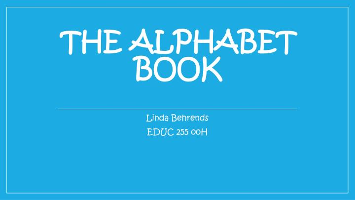 the alphabet book n.