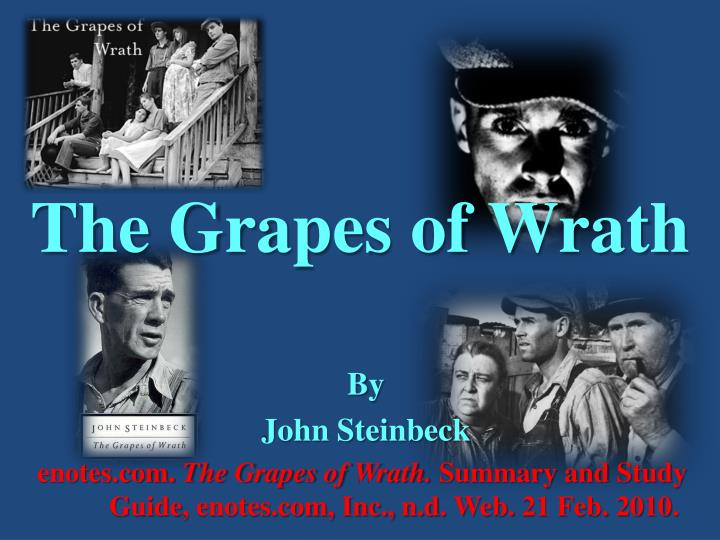 a critical review of john steinbecks the grapes of wrath The grapes of wrath essays are academic essays for citation these papers were written primarily by students and provide critical analysis of the grapes of wrath by john.