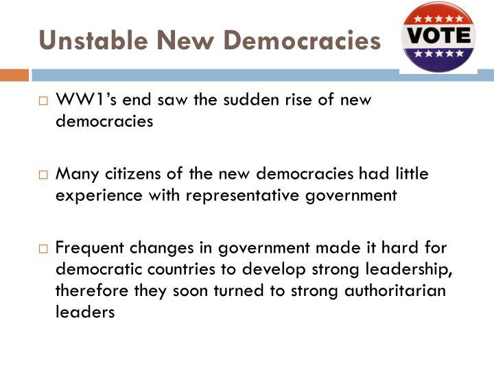 Unstable new democracies
