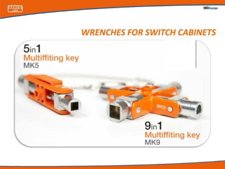 wrenches for switch cabinets n.