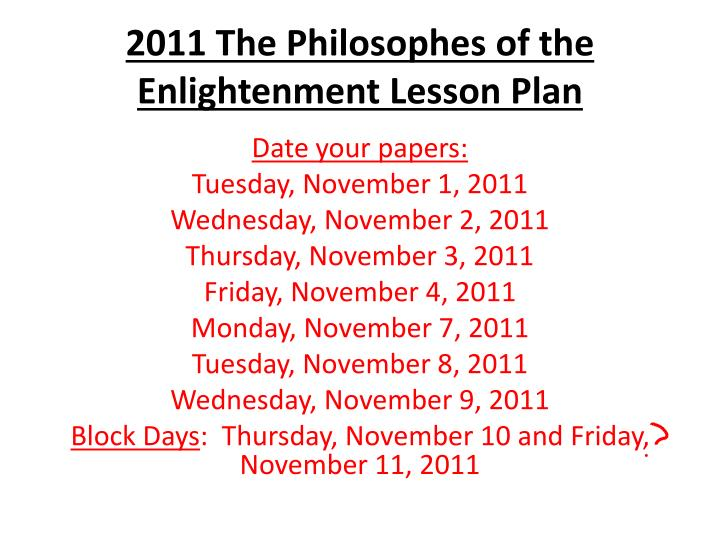 2011 the philosophes of the enlightenment lesson plan n.