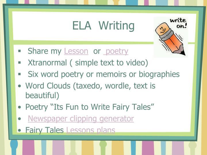 ELA  Writing