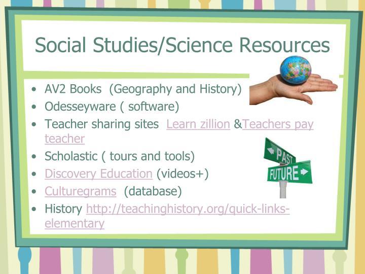 Social Studies/Science Resources