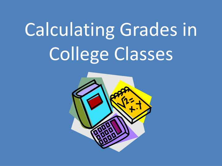 calculating grades in college classes n.