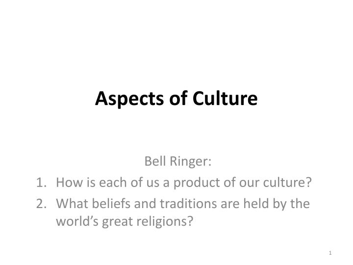 aspects of culture n.