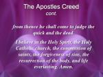 the apostles creed cont