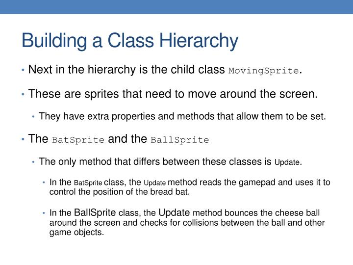 Building a Class Hierarchy