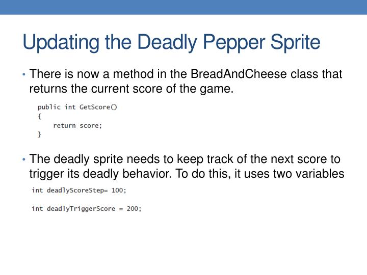 Updating the Deadly Pepper Sprite