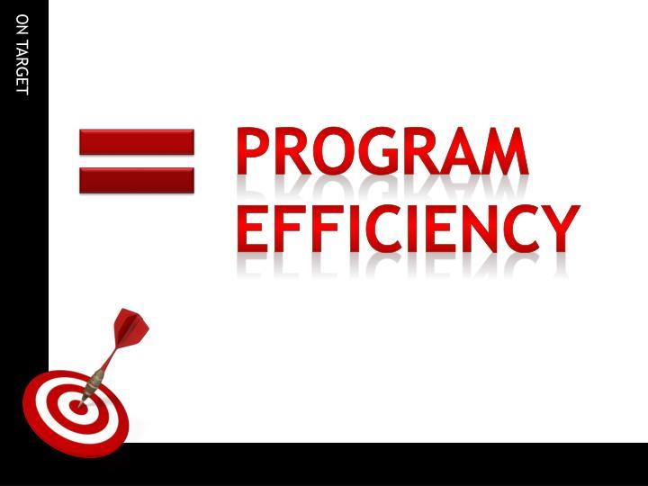 Program Efficiency