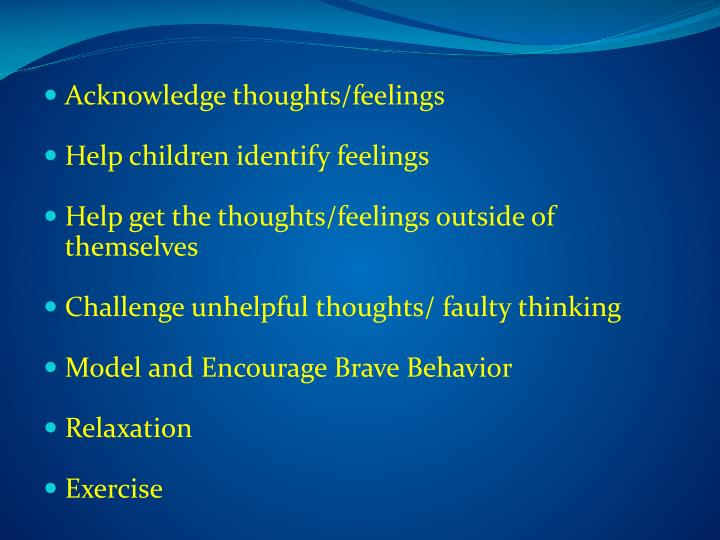 Acknowledge thoughts/feelings