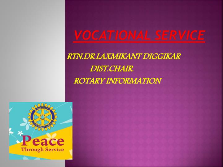 vocational service n.