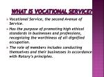 what is vocational service