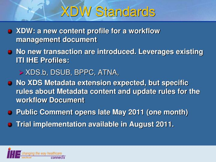 XDW Standards
