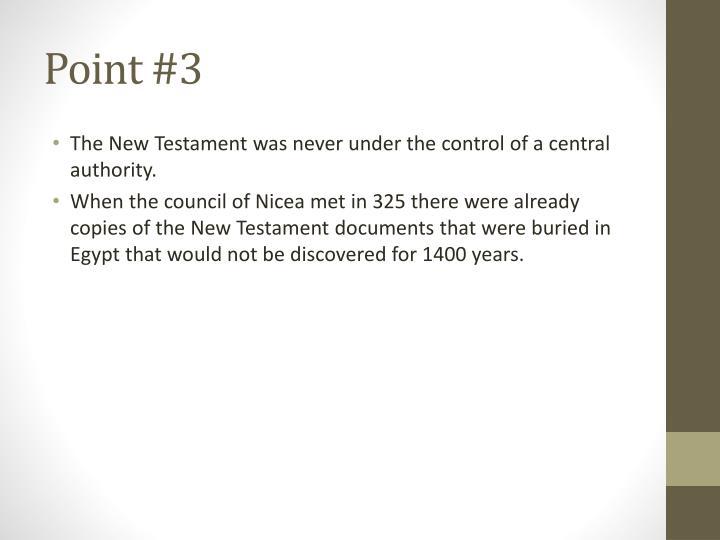 Point #3
