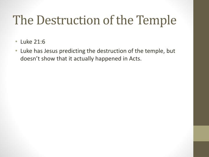 The Destruction of the Temple