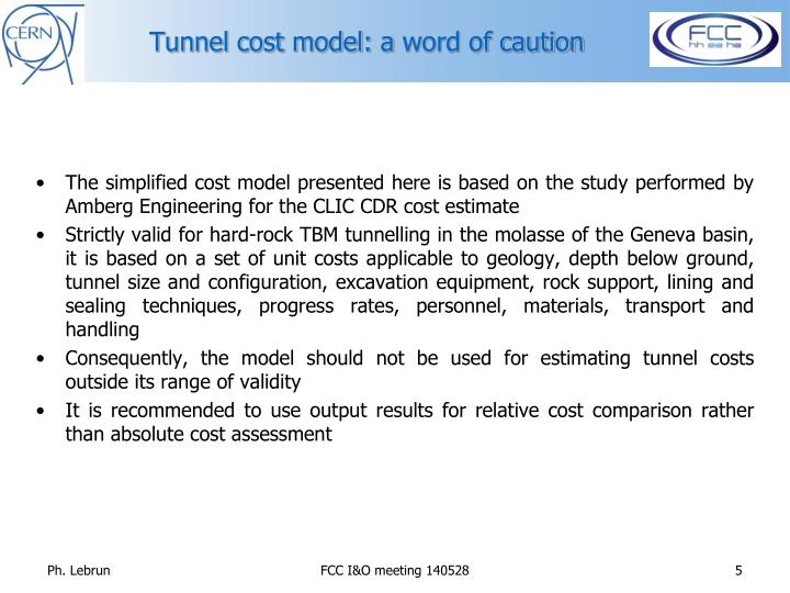 Tunnel cost model: a