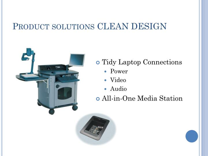 Product solutions CLEAN DESIGN