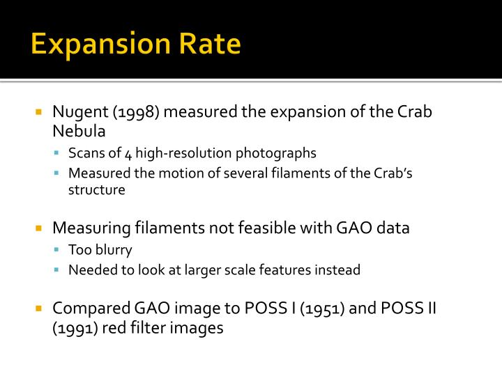 Expansion Rate