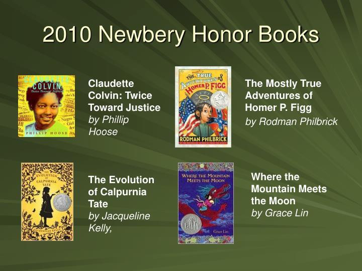 2010 Newbery Honor Books
