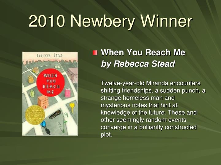 2010 Newbery Winner