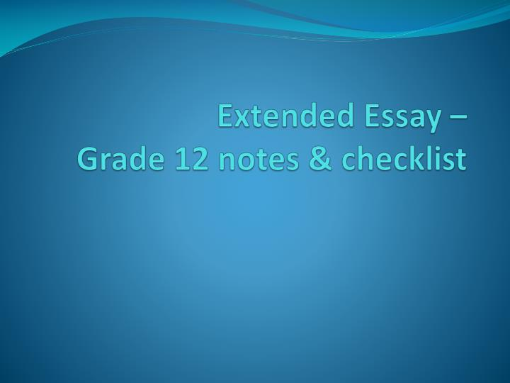 extended essay turnitin Carefully follow these instructions to create a student account in turnitin ask your teacher for your class id and class enrollment key extended essay quick links.