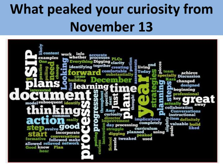 What peaked your curiosity from
