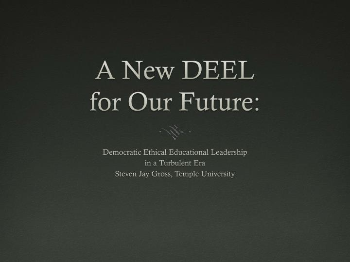 a new deel for our future n.