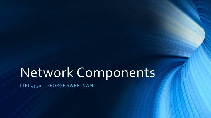 network components n.