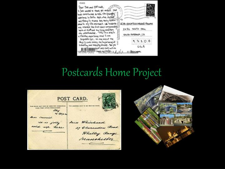 postcards home project n.