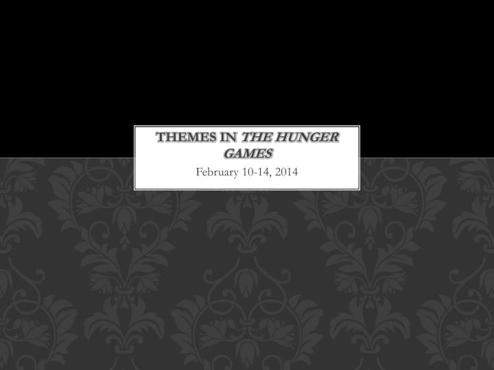 themes in the hunger games n.
