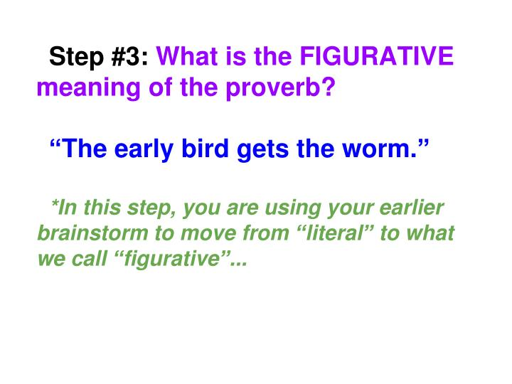 meaning of the proverb the early bird catches the worm