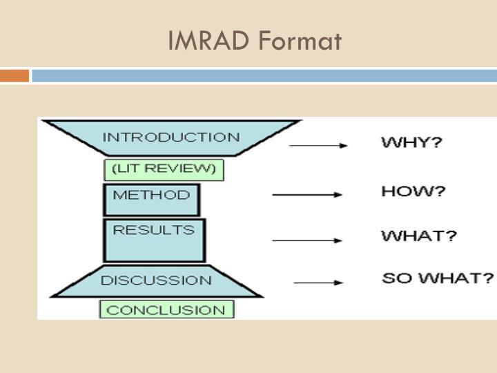 IMRAD Format