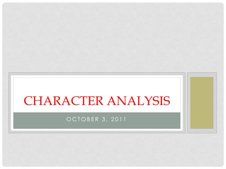 character analysis n.