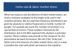 niche size labor market share