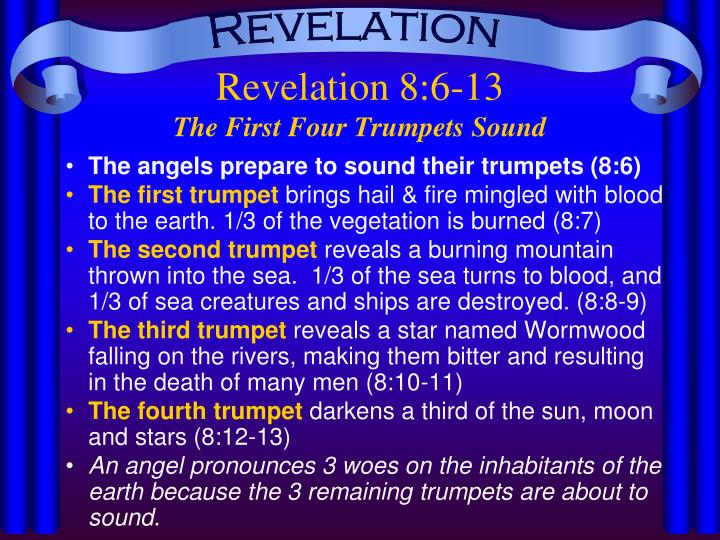 Revelation 8 6 13 the first four trumpets sound