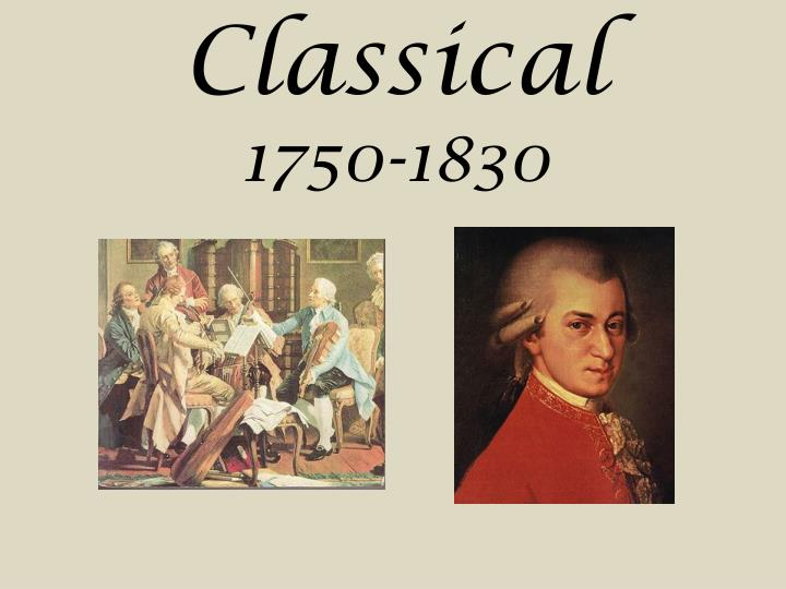 classical era 1750 to 1820