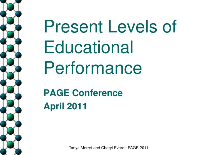 present levels of educational performance n.
